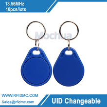 13.56MHz UID Changelable key fob M1 Classic 1K Chip fit for Copy Key(China)