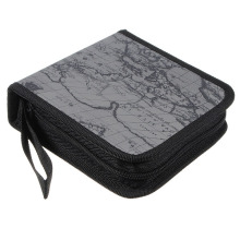 EDT-40 Disc Map CD DVD Storage Holder Sleeve Case Box Wallet Bag - grey