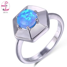 ZHE FAN Brand Jewelry Created Fire Opal  Rings For Women Wedding Engagement Party Gift Unusual Ring Female Bijouterie