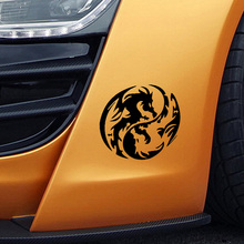 Mysterious Ancient Tribal Dragon Totem Yin Yang Funny Car Sticker for Truck Window Bumper Home Car Cover Vinyl Decal 9 Colors(China)