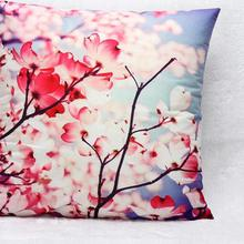 Hot Foreign Trade Wholesales Short Plush Pillow Bright Plum Cushion Furnishing Style Home Decorative Pillowcase 45x45cm