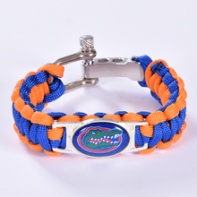 Florida Gators Custom Paracord Bracelet NCAA College Football Charm Bracelet Survival Bracelet, Drop Shipping! 6Pcs/lot!