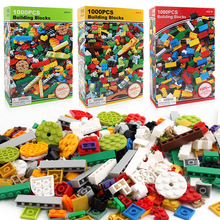 Buy 1000 Pcs Building Bricks Set DIY Creative Brick Kids Toy Educational Building Blocks Bulk Compatible Brand Blocks for $26.28 in AliExpress store