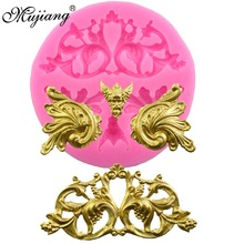 Mujiang European Scrolls Relief Fondant Cake Decorating Tools Cake Border Silicone Molds Gumpaste Chocolate Moulds XL396