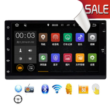 Android 2 DIN 4.4 Universal Car Stereo 7 inch 1024x600 GPS Navigation, WIFI Radio Bluetooth Player 1G DDR3 16G NAND Memory Flash