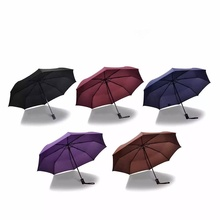 Wind Resistant Folding Automatic Umbrella Male Female Auto Luxury Big Windproof Umbrellas Rain For Mem Women Black Coating Blue