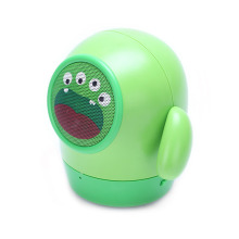 Hot cute Mini Mung Bean bluetooth speaker portable green monster TF Handsfree call cartoon kid gift caixa de som altavoz child(China)