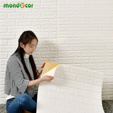 Buy DIY 3D Wall Panel Brick Wall Stickers Living Room TV Background Wall Decor Foam Waterproof Wall Decals Wallpaper Kids Room for $2.99 in AliExpress store