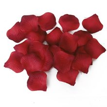 100pcs Roses petals artificial flowers for wedding Decoration - Gradual Red(China)
