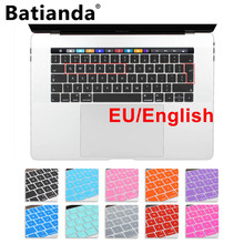 "Silicone EU/UK English layout Keyboard Cover Stickers Protector for 2016 New MacBook Pro 13"" 15"" Retina with Touch Bar and ID"