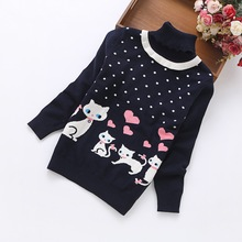 2016 new fashion girls' sweaters 6-14 years children cotton sweater H8368