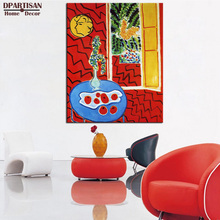 DPARTISAN Henri Matisse Original Limited Edition Print Red Interior GICLEE poster print on canvas wall painting no frame picture(China)
