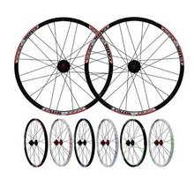 230911/ 24-inch mountain wheel group Bicycle quick-release flower drum aluminum alloy double-layer disc disc brake wheel rim(China)
