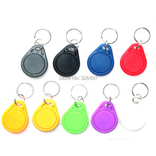 10pcs/Lot ABS token key fobs 13.56Mhz RFID Tag Token Keyfob MFS50 IC Cards NFC tag Blue for access  Control & Parking smart tags