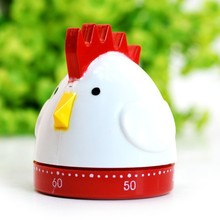 60 Minutes Multifunctional Cute Cartoon Rooster Style Kitchen Timer Mechanical Reminder Countdowners Alarm Clock Free Shipping(China)