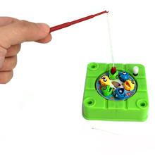 Mini Magnetic Fishing Toy For Kids Rotating Wind Up Toys For Children Funny Fishing Game Board Fish Hungry Set de Pesca Infantil(China)