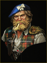 Unpainted Kit  1/ 10 Highland Clansman   soldier  bust  figure Historical WWII Figure Resin  Kit Free Shipping