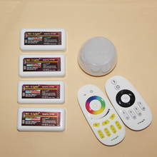4-zone WiFi LED Touch Remote controller iOS Android APP RGB RGBW W/WW 2.4G Wireless RF Remote for led strip light(China)