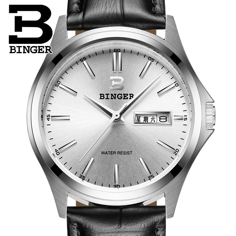 2017 Switzerland luxury mens watch BINGER brand quartz full stainless clock Waterproof Complete Calendar Guarantee B3052B3<br>