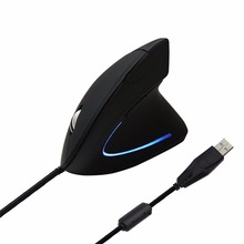 Shark-shaped Unique 2.4GHz USB Wired Vertical Grip Ergonomic Optical Mouse with 6 Buttons Computer Accessory 1000DPI Black