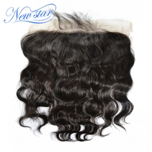 New Star Lace Frontal 13x6 Size Free Part Brazilian Body Wave Human Hair Natural Hairline With Baby Hair Bleached Knots