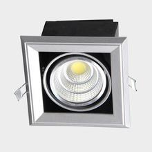 New LED Grille Lamp Dimmable 15W LED Bean Pot Light Electronic Recessed Embeded Wall Light For Indoor Commercial Office Light(China)