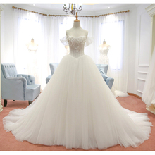 Buy trouwjurk robe de mariage Lace Wedding Dresses Shoulder Ball Gown 2017 Wedding Gowns Weding Bridal Bride Dress Weddingdress for $222.74 in AliExpress store