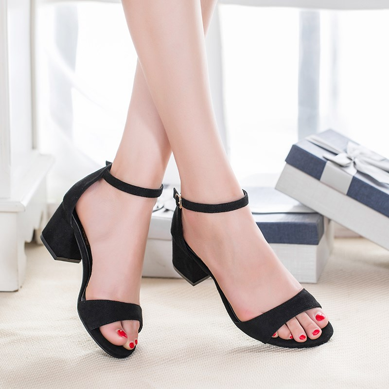 Women Sandals Heels Summer Shoes Women High Heels Sandals Buckle Ladies Shoes Black <br><br>Aliexpress