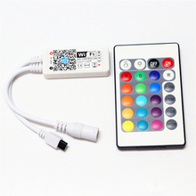 DC5-28V 12V 24V Mini WiFi RGBW LED Controller Wireless iOS Android Phone APP With 24Key IR Remote for 5050 RGBW LED Strip light