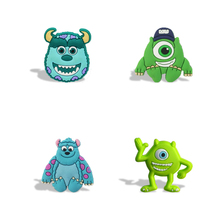 Cheapest 4 PCS Monster University Cartoon PVC Fridge Magnets Office Stationery Kids Party Gift School Children's Toys Stickers