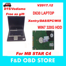 V2017.12 car diagnosis laptop D630 with MB Star SD C4 Xentry/Vediamo/DTS-monaco 8 software for mercedes benz Car Diagnostic Tool(China)