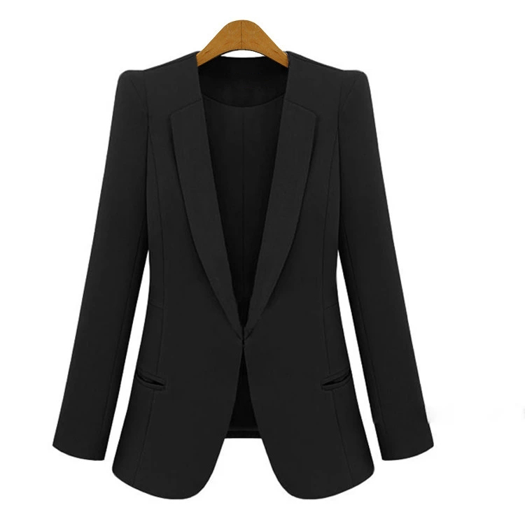 2017 Spring and Autumn Korean women\`s Slim was thin suits female jacket in the long paragraph leisure large size lady suit suit (7)