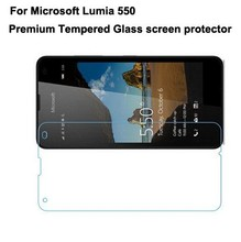 10pcs/lot For Microsoft Lumia 550 Ultra thin Premium Tempered Glass Screen film guard,for Lumuia 550 glass screen protector skin(China)