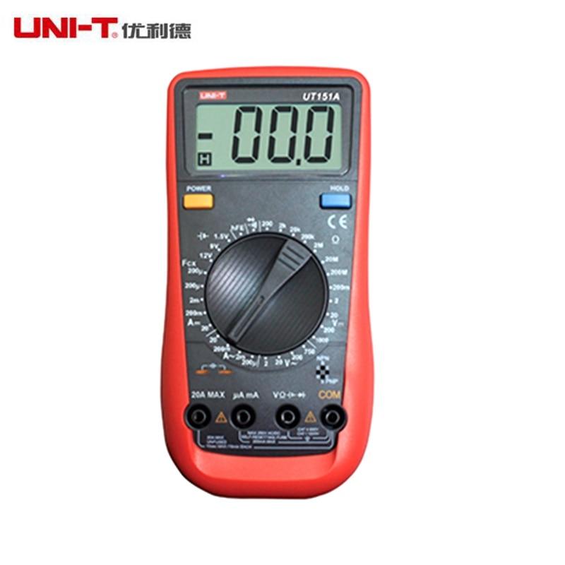 UNI-T UT151A Modern Manual Range Digital Multimeters AC/DC Volt Amp meter Resistance Capatitance Tester with Diode<br><br>Aliexpress