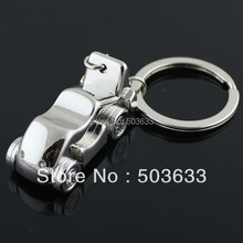 10pcs/Lot 3D Car Model Keychain Creative Hot Sale Classic Automobile Key Chain Ring Key Fob Keyring 82510(China)