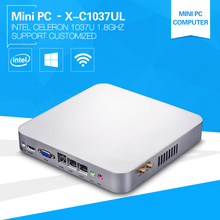 Low Power  X86 Mini Computer 1037U Celeron Dual Core 1.8GHz  2*Lan Thin Client  mini Barebone PC Server