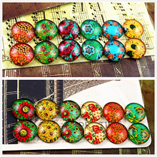12pcs/lot (One Set) Two Style 12mm Classic pattern Handmade Glass Cabochons Pattern Domed Jewelry Accessories Supplies(China)