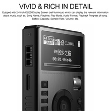 V5 HiFi Music Player High Resolution Digital Lossless Audio Player w/ 2.4-Inch OLED Screen with Dock Supports DSD MP3 WMA
