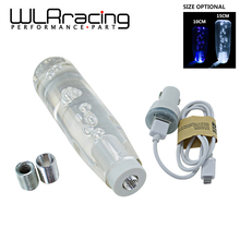 WLRING- 10CM OR 15CM LED Light Color Bubble Gear Manual Shift Knob With 2 USB Interface Charger And Data Wire WLR-GSK18/19