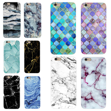 Phone Cases For iPhone 5 5s SE 6 6s 7 7Plus 6sPlus 4 4S New Marble Stone Image Painted TPU Cover Phone Bag Capa Caso Funda Coque(China)