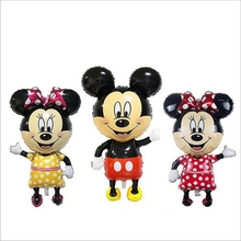 112cm Giant Mickey Minnie Cartoon Foil Balloons kids Birthday Party wedding Decoration inflatable Helium Big Balls Baby Toy gift