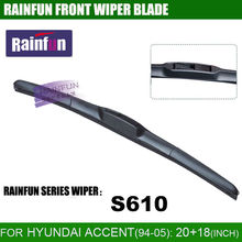 RAINFUN 20+18 inch dedicated car wiper blade for  HYUNDAI ACCENT(-05), dedicated windscreen wiper blade, natural auto wiper