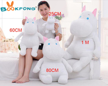 80cm large size Hippo Moomin plush toys soft stuffed doll for girlfriend valentines gift