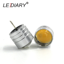 LEDIARY 5PCS/lot LED DC 12v COB G4 Super Bright Fatty G4 Downlight LED G4 Light Mini Corn Bulb LED High Power Tube 18*30mm