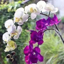 New 1 Piece Artificial Butterfly Orchid Artificial Flower Plant White / Purple for Wedding Bouquet Table Arrangement
