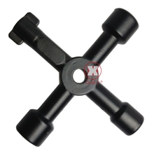 Best Price 1Pc Universal Triangle KEY Cross 4 Way Black Utility Multi Cross Wrench For Gas Electrical Elevator Cabinet Meter Box(China)