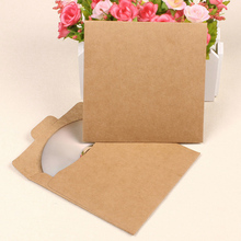 10pcs Kraft Paper CD Case Bag Blank Kraft Envelopes Multicolor Plain Kraft Paper Gifts Bag Party Favor CD/DVD Gifts Storage Bag(China)