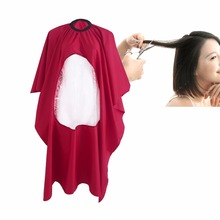2017 New Arrival New Salon Barber Hair Cutting Gown Cape With Viewing Window Hairdresser Apron Red Color