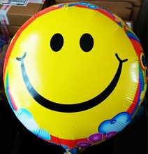 The newest 18inch Yellow Smile Balloons 10Pcs/Lot Festival Party Decoration Round Ballons wedding birthday baloes