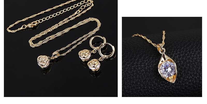 CWEEL Jewelry Sets Fashion African Jewelry Set Nigerian Wedding Zircon Jewerly Sets For Women Gold Color Ethiopian Jewelry (6)